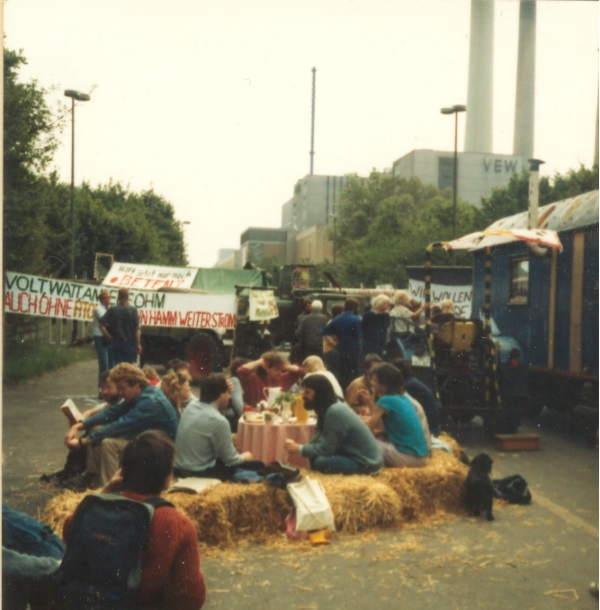 Blockade am THTR 1986